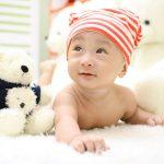 Bébé, tête plate, plagiocéphalie